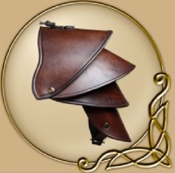 LARP Crisso leather spaulder